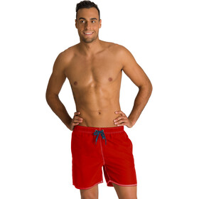arena Fundamentals Solid Zwemboxers Heren, fluo red/shark